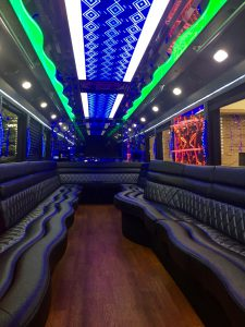 Chicago Party Bus Interior